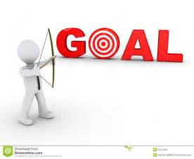businessman as archer aiming at a goal target stock