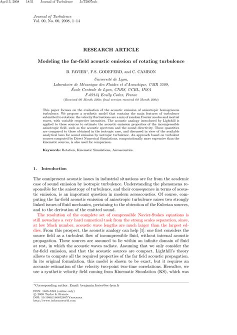 (PDF) Modeling the far-field acoustic emission of rotating
