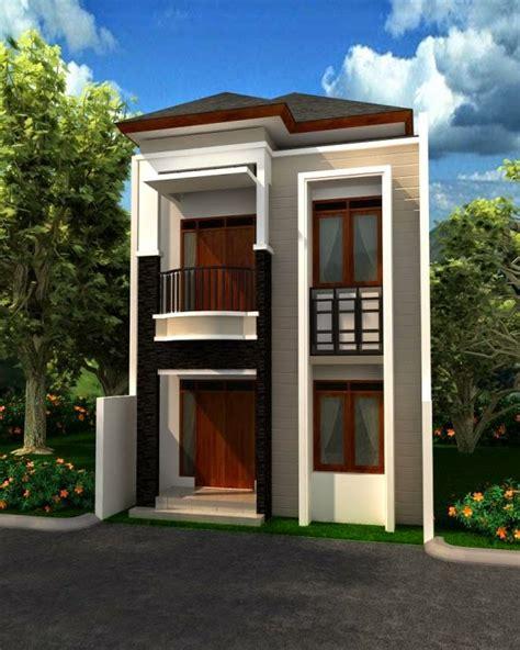 desain rumah minimalis 2 lantai di lahan sempit model rumah unik