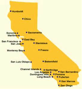 map of california state universities csu cuses