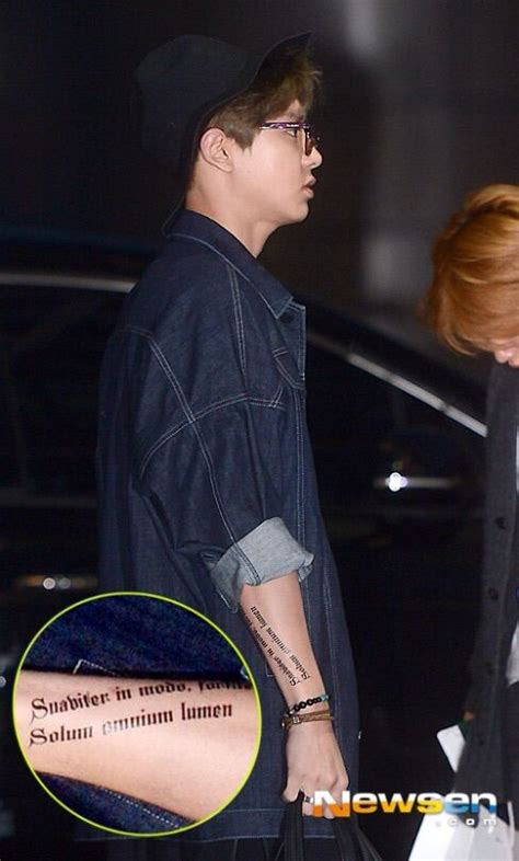 Chanyeol Tattoo Meaning | chanyeol s tattoos real or fake k pop amino