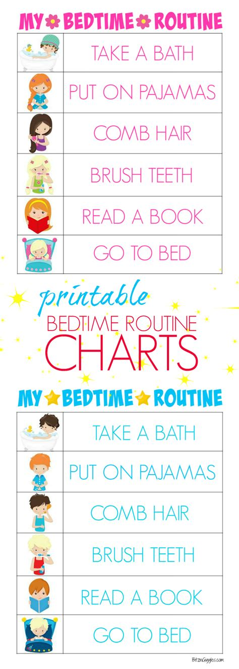 printable toddler routine printable bedtime routine charts bitz giggles