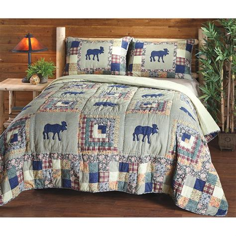 Moose Quilt by Moose Quilt Set 175626 Quilts At Sportsman S Guide