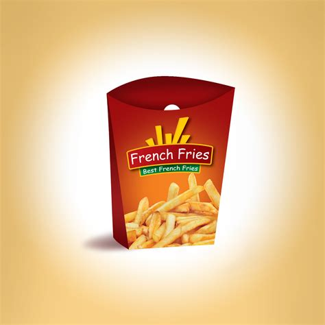fries packaging template fries packaging template and logo we design packaging