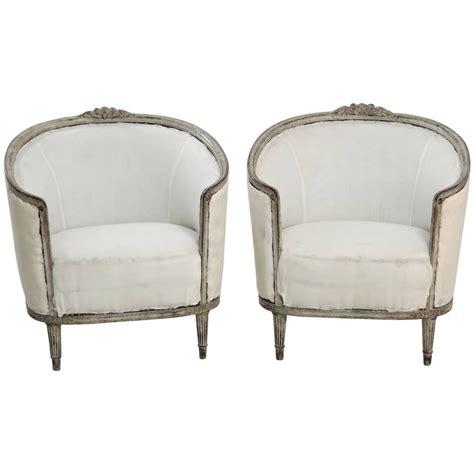 barrel style back chair 19th century pair of swedish gustavian style barrel back
