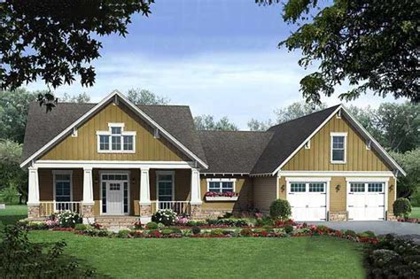 square feet of 3 car garage craftsman style house plan 3 beds 2 5 baths 2108 sq ft