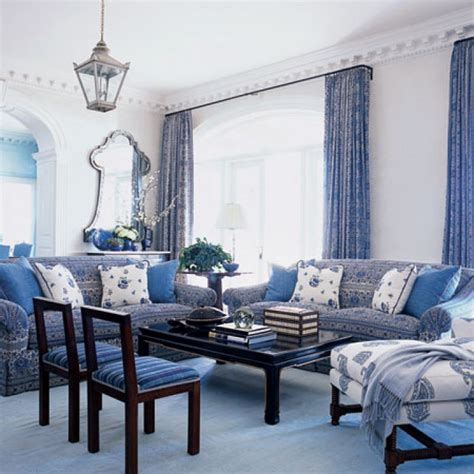 Blue Living Room by Blue And White Living Room Living Room Design Blue White
