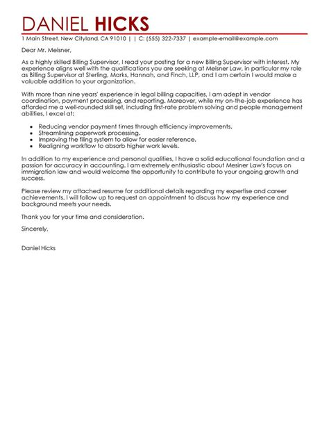 billing clerk cover letter billing clerk cover letter exles cover