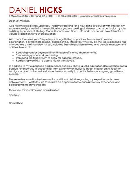 Cover Letter Exles For Billing by Billing Clerk Cover Letter Exles Cover Letter Sles Livecareer