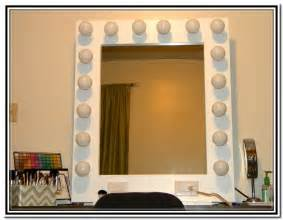 Vanity Mirror With Bulb Vanity Makeup Mirror With Light Bulbs Home Design Ideas