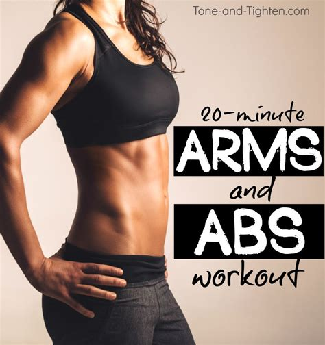 20 minute arms and abs dumbbell workout tone and tighten