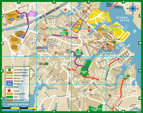 maryland map annapolis annapolis bike map annapolis md