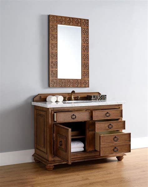 48 inch single sink bathroom vanity cinnamon finish