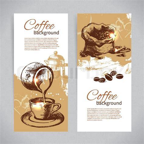 coffee menu wallpaper banner set of vintage coffee backgrounds menu for