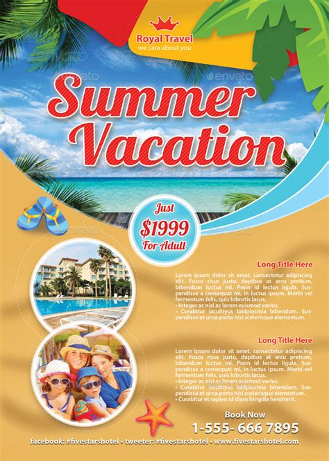 summer c flyer template travel summer vacation flyer template 83 by 21min