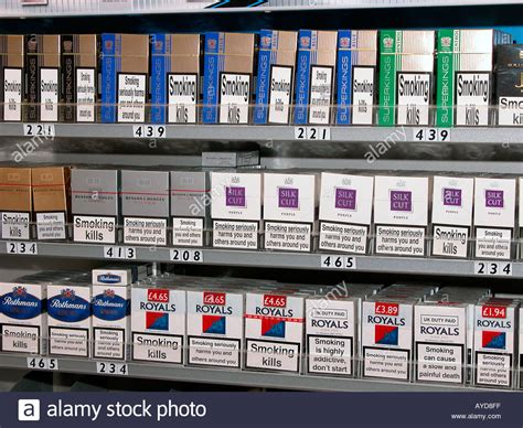 Sle Size Paket packets of cigarettes on sale in newsagent shop uk stock photo royalty free image 1825022 alamy