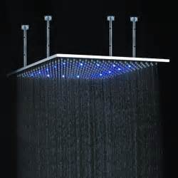 led shower contemporary brass shower multi color changing