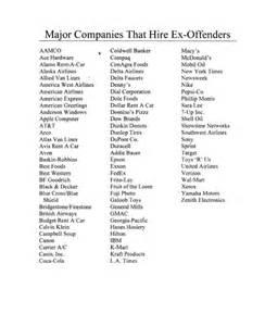felony friendly companies ex offenders