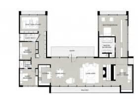 cool shaped house plans courtyard home plan with middle central the