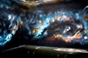 Wall Mural Space Outer Space Mural Graffiti Press