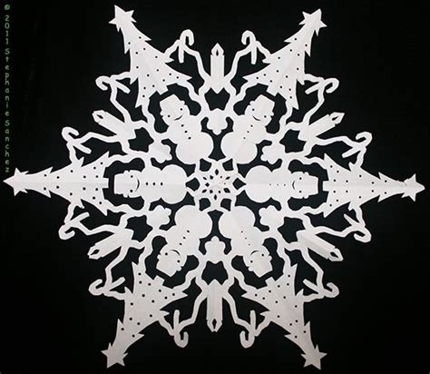 christmas tree snowflake patterns cut paper snowflakes patterns paper snowflake with trees snowmen bells and candles
