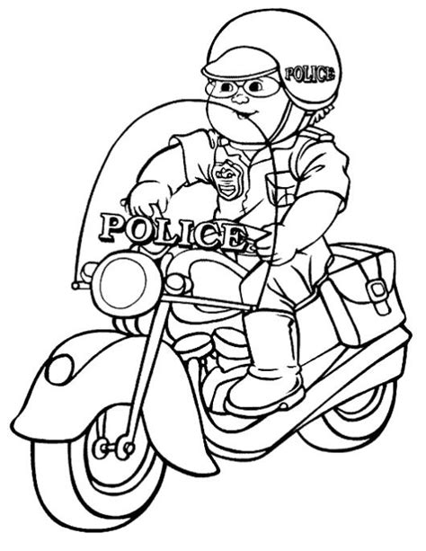 dibujos para colorear de policias free coloring pages of policia para pintar
