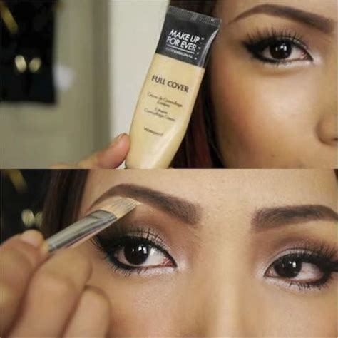 how to apply concealer on eyebrows