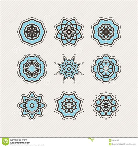 weave tattoo designs set of ornate vector mandala symbols lace