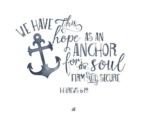 Anchor Print Inspirational Print Quot - lostbumblebee hope
