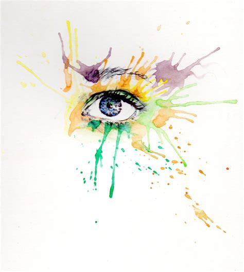 ojos en acuarela y algo m 225 s arte taringa
