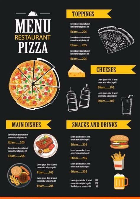 desain daftar menu makanan corel jual template desain menu restoran psd vector creative