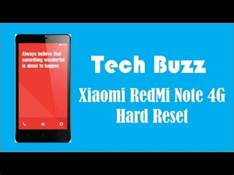 xiaomi redmi note 4g hard reset how to factory reset xiaomi redmi note 4g factory hard reset youtube