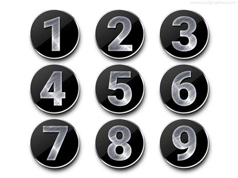 3d number templates 3d numbers set psdgraphics