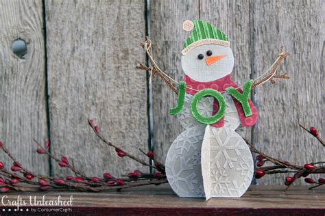 How To Make A 3d Snowman Out Of Paper - dinations cardstock paper snowman