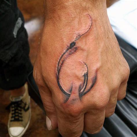 tattoo hand fish 75 fish hook tattoo designs for men ink worth catching