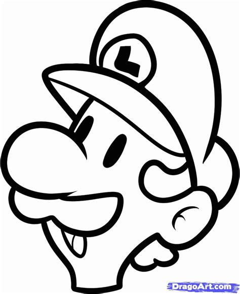easy mario coloring pages how to draw luigi easy step by step video game