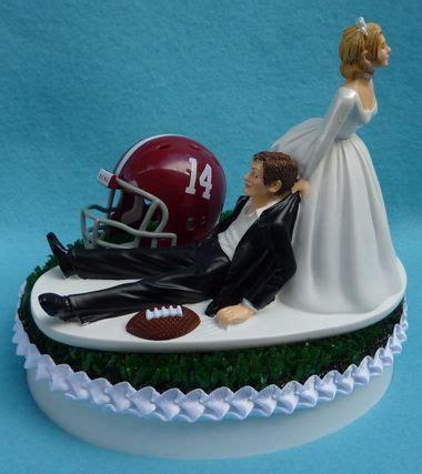 wedding cake topper of alabama crimson tide football themed turf topper my