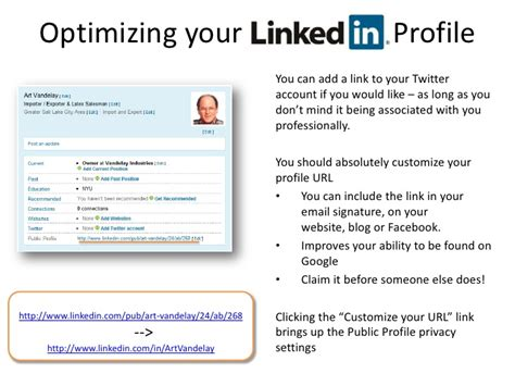 optimizing your linkedin profile you