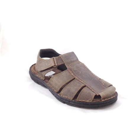 closed toe sandals for lotus woodrow brown leather closed toe sandal lotus from