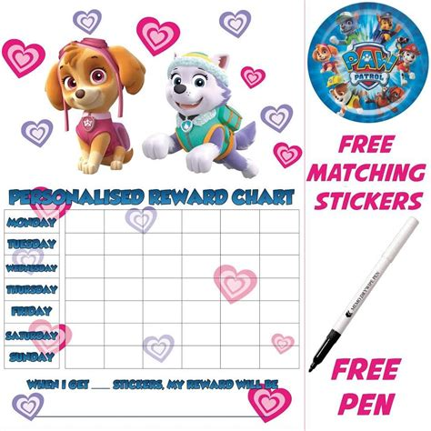 printable potty training reward chart uk reusable potty training reward chart paw patrol skye