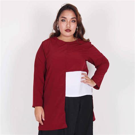 Kemeja Putih Kantor Wanita Xl baju hem wanita big size bodybigsize baju wanita big size