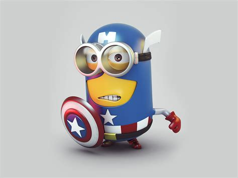 captain america minion wallpaper captain america minions wallpaper 15
