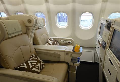 fiji airways seat selection review fiji airways business class a330 nan lax travelsort