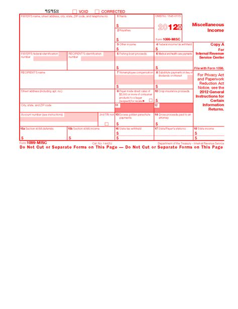 section 409 a form 1099 misc miscellaneous income info copy only