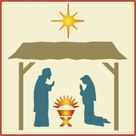 nativity stencil manger set christmas  artful stencil ebay