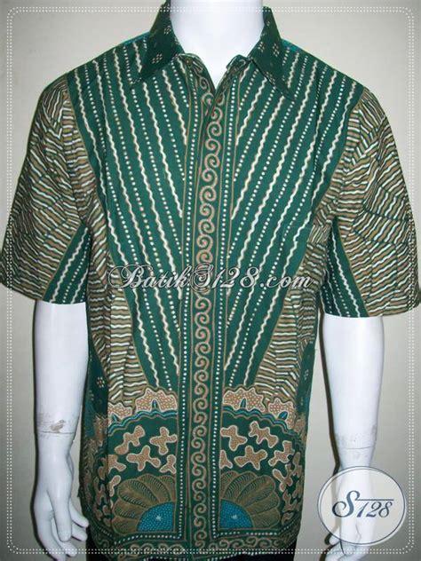 kemeja batik ijo jumbo unik lengan pendek batik tulis ukuran big size besar ld830t toko