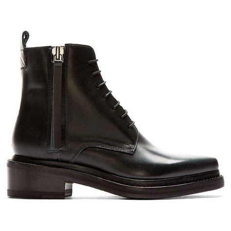 acne studios s black leather pointed linden ankle