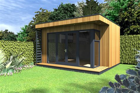 contemporary insulated garden room cubeco ecos ireland