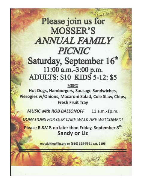 special events and activities mosser nursing home