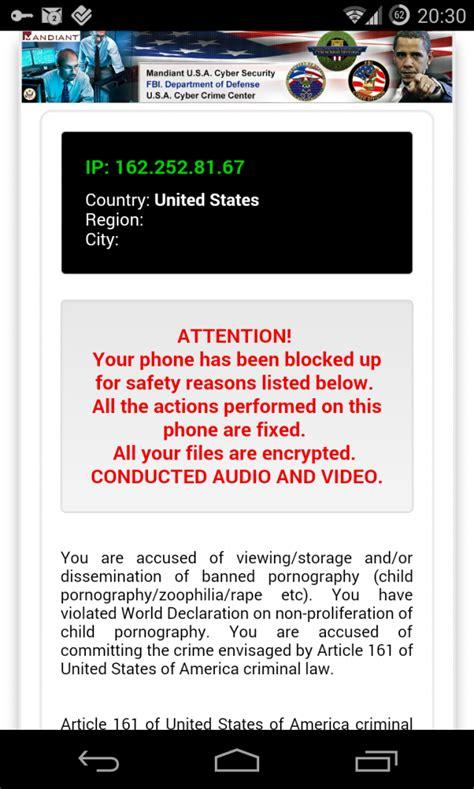 malware android malware android telefono bloccato 171 hai visto pornografia illegale 187 macitynet it